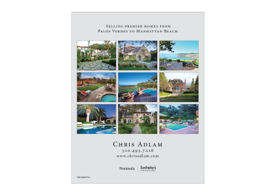 Chris Adlam Ad | Southbay Magazine
