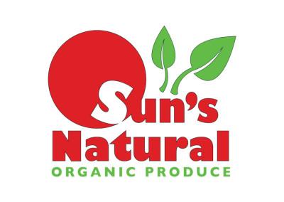 Suns Natural Organic Produce Logo