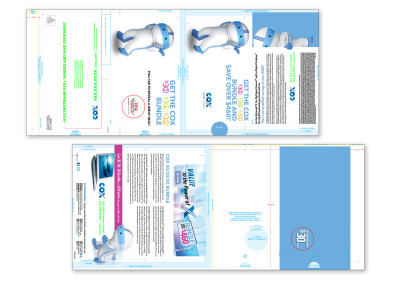 Complex Folding Direct Mail Piece with Pull-Out for Cox Communications