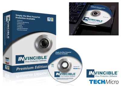 Invincible Virus Protection Software Branding for TechMicro Inc.