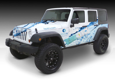 Truck Wraps to Promote Liquid IV Hydration Product
