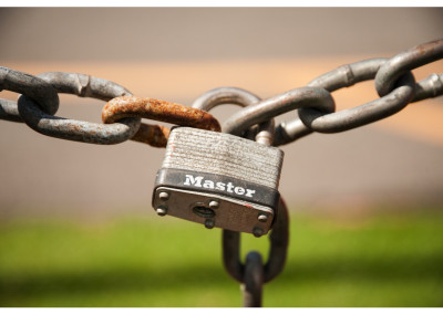 One of my own stock images of an old lock | Before