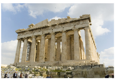 One of my own stock images of the Parthenon | Before