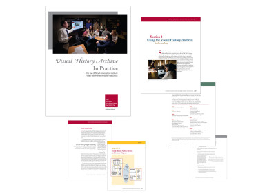 "Shoah Foundation Institute Textbook | Click <a href= ""http://www.pcharlesfisher.com/Publishing/USC_Shoah_BookLLR.pdf"" target= ""blank"">here</a> to view PDF"