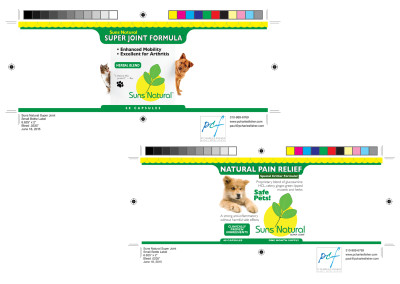 Suns Natural Pet Label Print-ready files