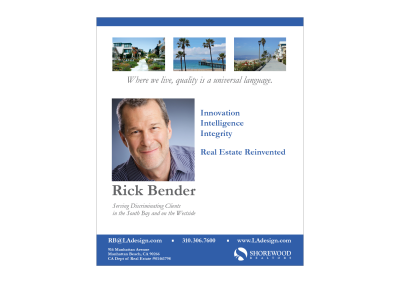 Rick Bender Real Estate Ad Southbay HOME Magazine