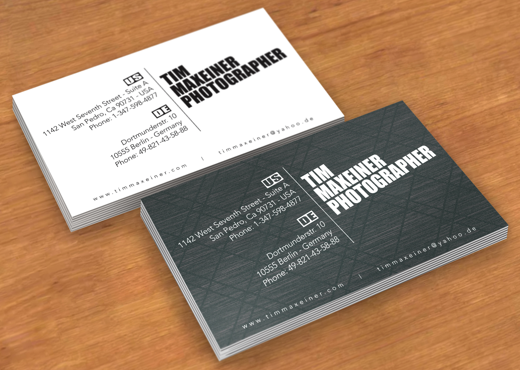 Business cards p charles fisher design studios tim maxeiner photographer san pedro ca berlin germany reheart Gallery