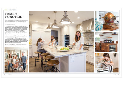 Spread article for Southbay HOME Magazine